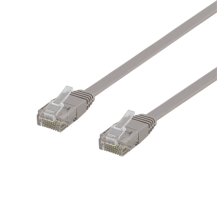DeltacoDeltaco Flat Cat6 nätverkskabel, 3m, grå