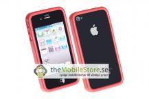 A-One BrandRubber Bumper Skal för Apple iPhone 4 (Röd)