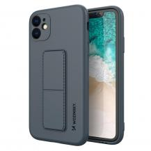 WozinskyWozinsky Kickstand Silicone Skal iPhone 12 Pro Max - Navy Blå
