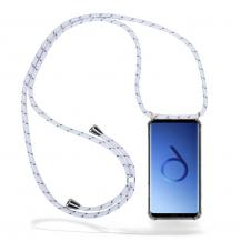 CoveredGear-NecklaceCoveredGear Necklace Case Samsung Galaxy S9 - White Stripes Cord