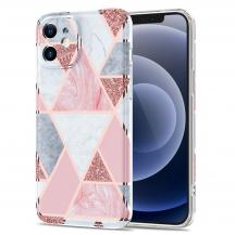 Boom of SwedenBoom of Sweden Grid skal till iPhone 12 Mini - Rosa Marmor