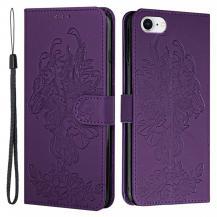 A-One BrandTiger Flower Plånboksfodral till iPhone 6/6S/7/8/SE - Lila