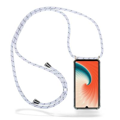 CoveredGear Necklace Case Huawei Mate 20 - White Stripes Cord
