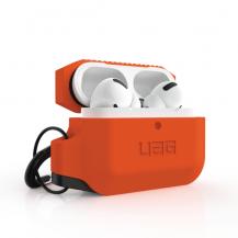 UAGUAG Apple Airpods Pro Silicone Case - Orange / Black