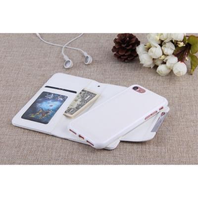 Litchi Detachable Plånboksfodral till iPhone 7/8/SE 2020 - Vit