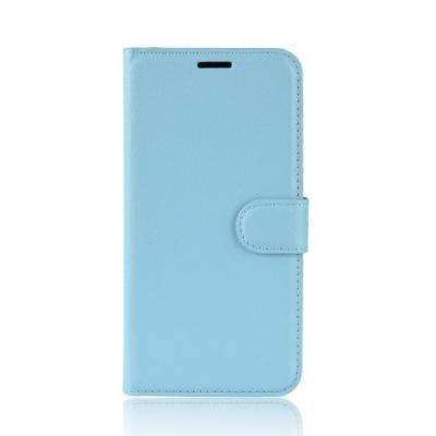 Litchi Plånboksfodral till Samsung Galaxy A6 (2018) - Blå