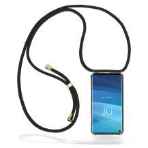 CoveredGear-NecklaceCoveredGear Necklace Case Samsung Galaxy S10 - Black Cord