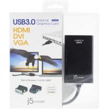 j5 createJ5 create JUA330U, USB 3.0 till DVI-adapter, fungerar som ett extra grafikkort,