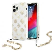 GuessGuess Skal iPhone 12 / 12 Pro Peony Chain Collection - Guld