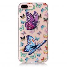 A-One BrandTPU Mobilskal till iPhone 7 Plus - Fjärilar