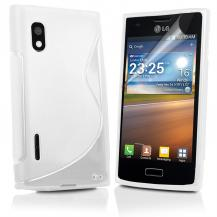 A-One BrandFlexiCase Skal till LG Optimus L5 - E610 - (Vit)