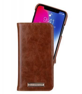 CoveredGear Signature Plånboksfodral till iPhone XS / X - Brun