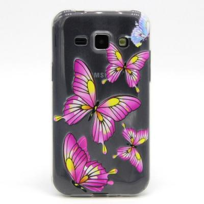 Skal till Samsung Galaxy J1 - Rosa Fjärilar