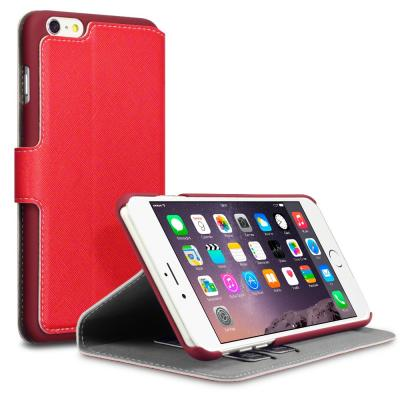 Terrapin Slim Plånboksfodral till Apple iPhone 6(S) Plus - Röd