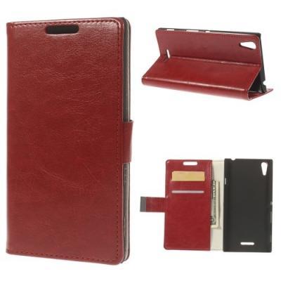 Plånboksfodral till Sony Xperia T3 (Röd)