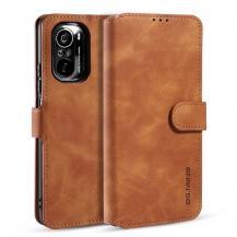 A-One BrandDG.MING Retro Plånboksfodral till Xiaomi Mi 11i / Poco F3 - Brun