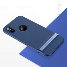 ROCKROCK Royce Skal till Apple iPhone XS / X - Blå