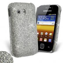 OEMGlitter skal till Samsung Galaxy Y S5360 Silver + Skärmskydd