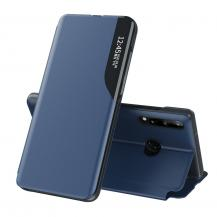 HurtelEco Leather View Case Huawei P40 Lite E Fodral Blå