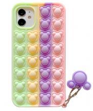 Fidget ToysPanda Pop it Fidget Multicolor Skal till iPhone 11 - Lila