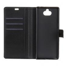 A-One BrandLitchi Texture Plånboksfodral till Sony Xperia 10 Plus - Svart