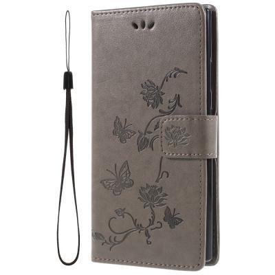 Butterfly Plånboksfodral till Sony Xperia L2 - Grå
