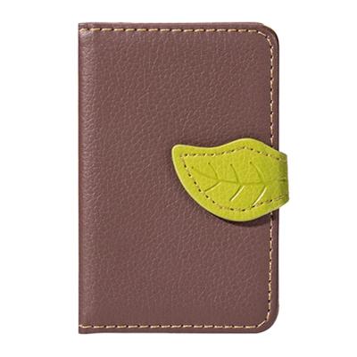 Leaf kreditkortshållare för smartphones - Brun