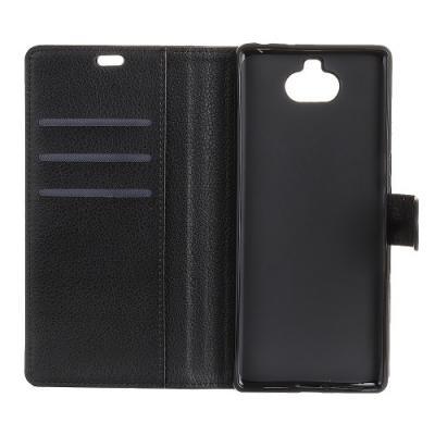 Litchi Texture Plånboksfodral till Sony Xperia 10 Plus - Svart