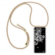 CoveredGear-NecklaceCoveredGear Necklace Case Samsung Galaxy S20 Ultra - Beige Cord