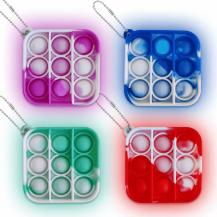 Fidget Toys4-Pack Pop it Fidget Toy - Flera Färger & Modeller - Mini - Multicolor