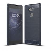 OEMCarbon Brushed Mobilskal till Sony Xperia XA2 Ultra - Blå