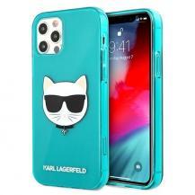 KARL LAGERFELDKarl Lagerfeld Skal iPhone 12 Pro Max Glitter Choupette Fluo - Blå