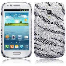 TerrapinBling Bling Skal till Samsung Galaxy S3 mini i8190 (Zebra)