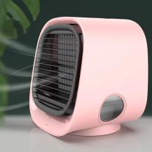 A-One BrandLuftkylare USB - Luftfuktare Fläkt - Bordsfläkt - Rosa