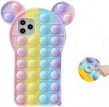 Fidget ToysPanda Pop it Fidget Multicolor Skal till iPhone 11