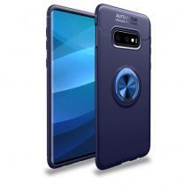 A-One BrandMagnetiskt Skal med Ring för Samsung Galaxy S10 Plus - Blå