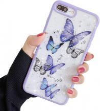 A-One BrandBling Star Butterfly Skal till iPhone 7/8/SE 2020 - Lila