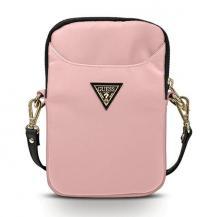 GuessGuess Handväska Nylon Triangle Logo - Rosa