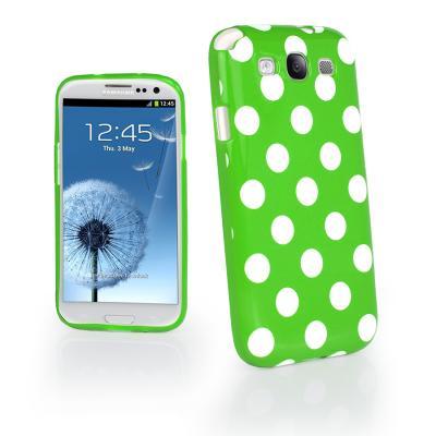 Polka dot FlexiCase Skal till Samsung Galaxy S3 i9300 (Grön)