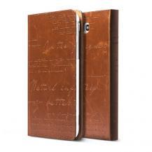 ZenusZenus Lettering Väska till Samsung Galaxy Tab3 7.0 (Brun)