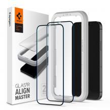 SpigenSPIGEN ALM FC 2-Pack Härdat Glas iPhone 12 & iPhone 12 Pro - Svart