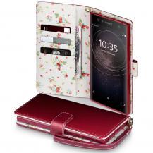 OEMFloral Interior Plånboksfodral Sony Xperia XA2 Ultra - Röd