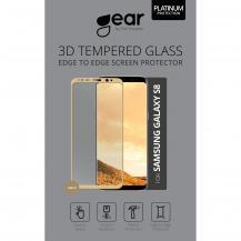 GEARGEAR Härdat Glas 3D Full Cover Samsung S8 - Guld
