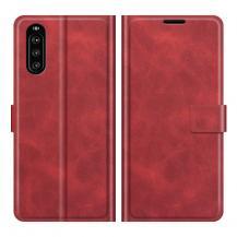 OEMFlip Folio Plånboksfodral Sony Xperia 10 III - Röd