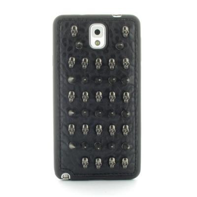 Studded Leather Pattern Flexiskal till Samsung Galaxy Note 3 (Spike Skulls)