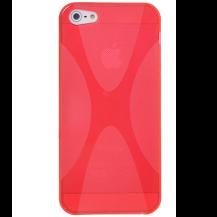 A-One BrandFlexiCase Skal till Apple iPhone 5/5S/SE - X-line (Röd)