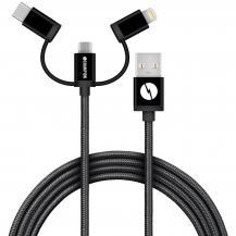 ChampionCHAMPION USB kabel 3-in-1 1,5m - Svart