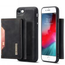 DG.MINGiPhone 7/8/SE 2020 Skal DG.MING Magnetic Tri-fold Wallet Med Kickstand - Svart