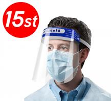 15-PACK - Skyddsvisir / Visir / Munskydd / Ansiktsskydd