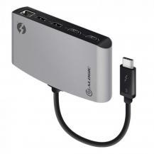 ALOGICALOGIC ThunderBolt 3 Dual HDMI portabel dockningsstation med 4K